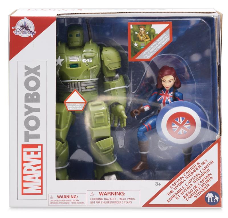 Disney Store Exclusive – Hydra Stomper & Captain Carter, Spider-Man Crime Lab & The Mandalorian Toy Box Figures