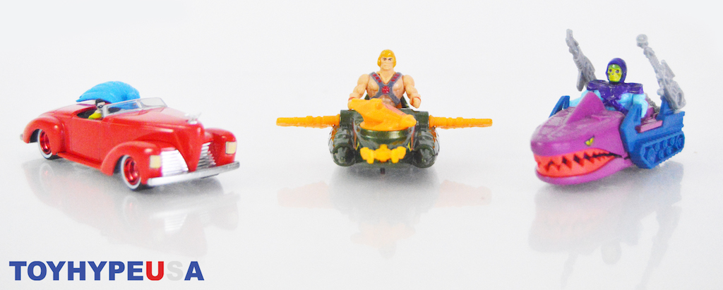 Mattel SDCC 2021 Exclusive – Hot Wheels 1st Appearance Batman & Masters of the Universe Wind Raider vs Land Shark Vehicles Review