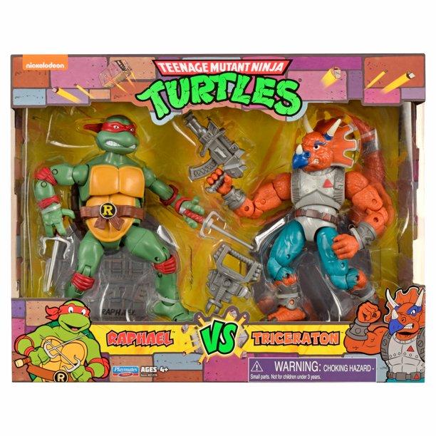 Playmates Toys Teenage Mutant Ninja Turtles Raphael vs. Tricereton 2-Pack Available Now