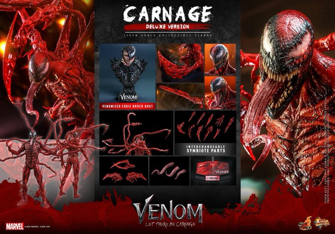 Hot Toys Venom: Let There Be Carnage – Carnage Sixth Scale Figure Pre-Orders
