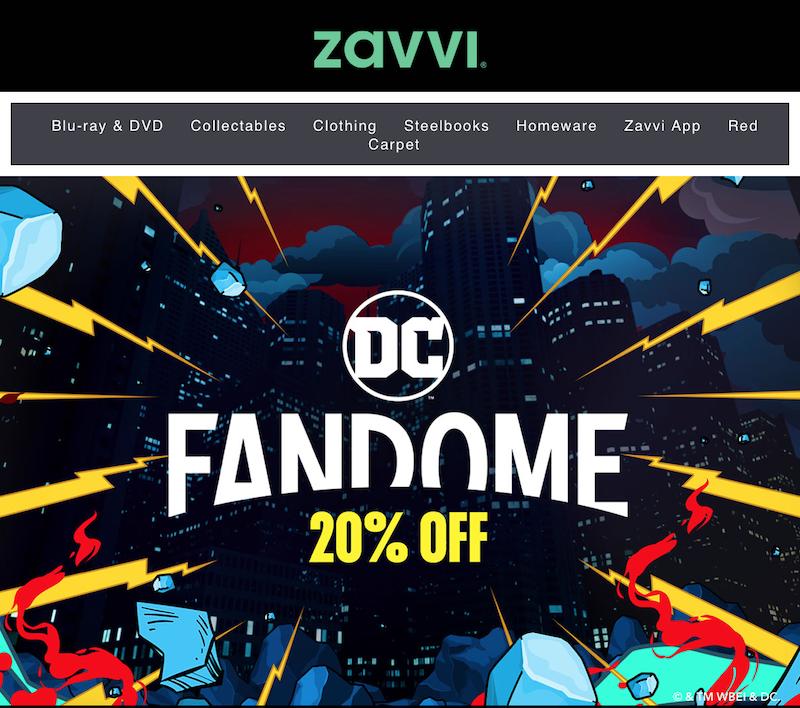 Zavvi – DC FanDome 20% Off Deals Now Live