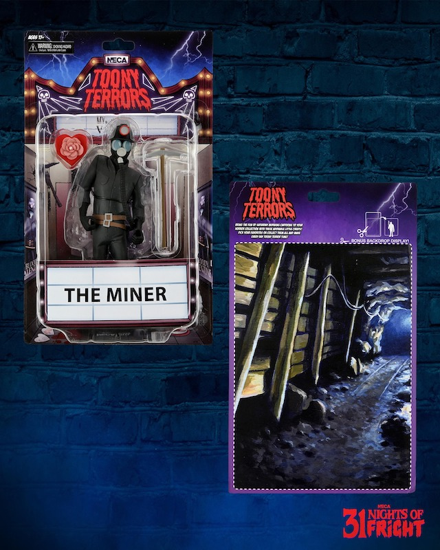 NECA Toys 31 Nights of Fright Reveal – Toony Terrors Wave 6 The Miner In-Packaging