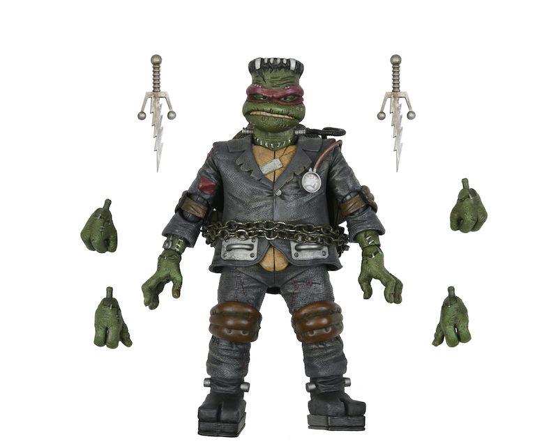 NECA Toys 31 Nights of Fright Reveal – Universal Monsters x Teenage Mutant Ninja Turtles Raphael as Frankenstein