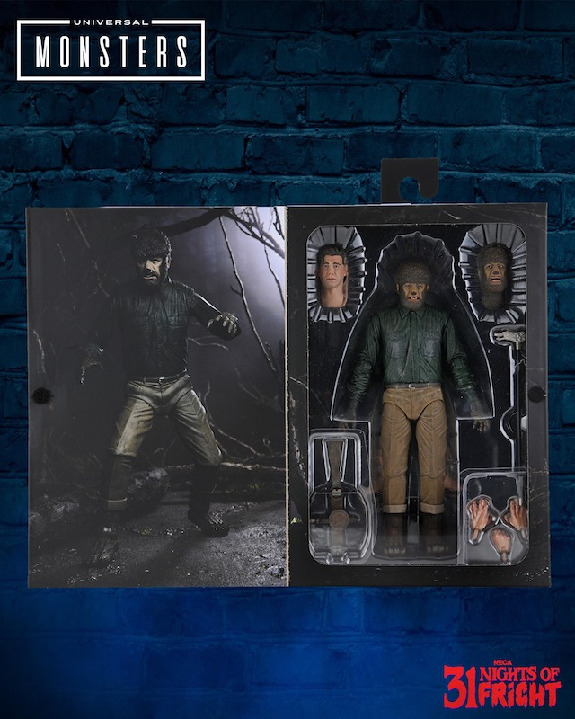 NECA Toys 31 Nights of Fright Reveal – Universal Monsters The Wolf Man (Color) Figure In-Packaging