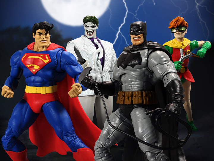 McFarlane Toys Batman The Dark Knight Returns DC Multiverse Wave 1 Figures Collect to Build Batman's Horse Pre-Orders