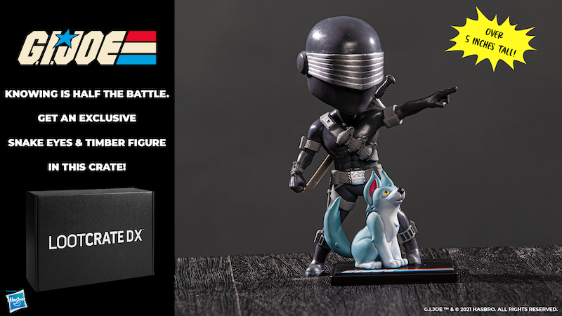 Loot Crate DX Offers G.I. Joe Snake Eyes & Timber Figures In October 2021