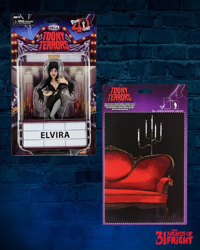 NECA Toys 31 Nights of Fright Reveal – Toony Terrors Wave 6 Elvira In-Packaging