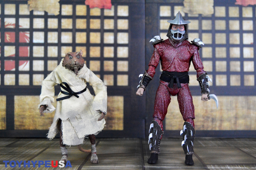 NECA Toys Teenage Mutant Ninja Turtles 1990 Movie – Splinter & Shredder 2-Pack Figures Review