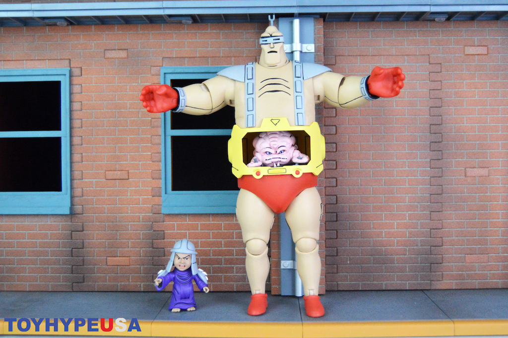 NECA Toys Teenage Mutant Ninja Turtles The Wrath of Krang Animated Krang & Child Shredder Figures Review